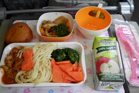 エバー航空  福岡 台北 機内食 昼食